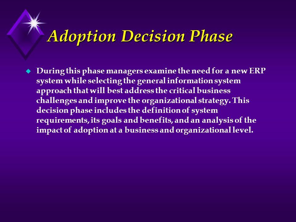 Adoption Decision Phase