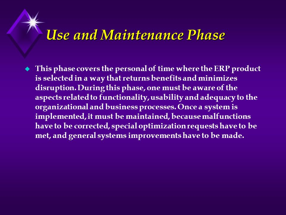 Use and Maintenance Phase