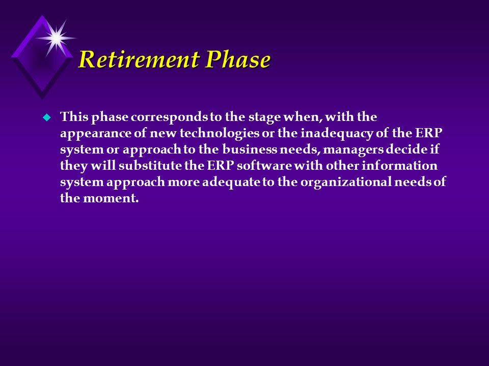 Retirement Phase