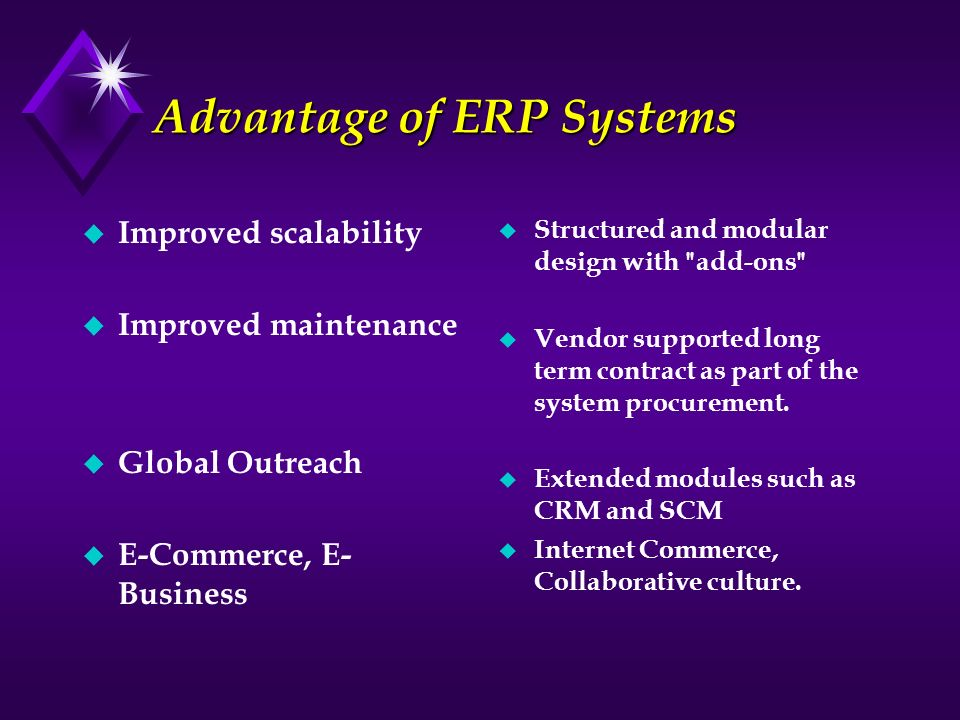 Advantage of ERP Systems