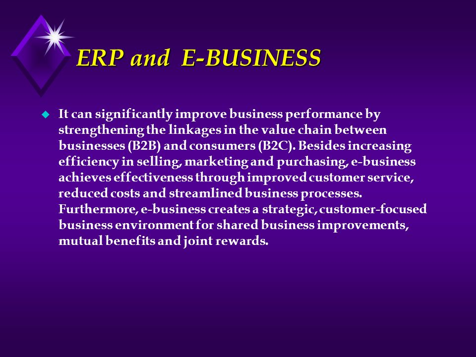 ERP and E-BUSINESS