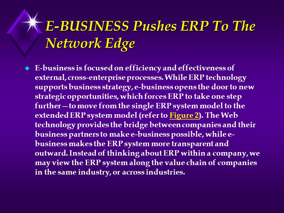 E-BUSINESS Pushes ERP To The Network Edge