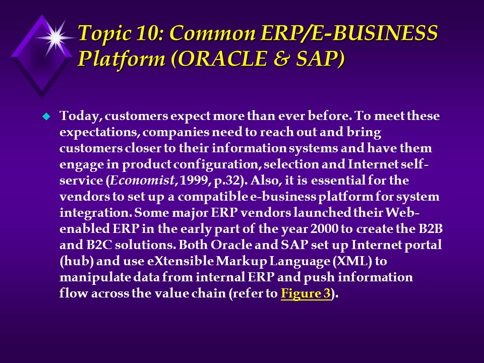 Topic 10: Common ERP/E-BUSINESS Platform (ORACLE & SAP)
