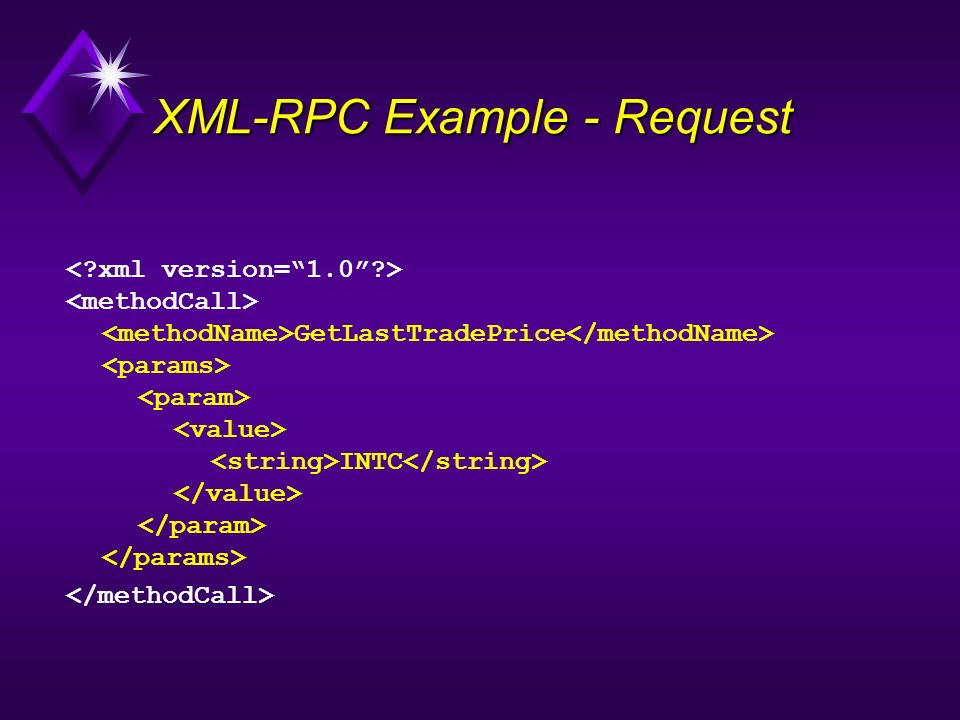 XML-RPC Example - Request