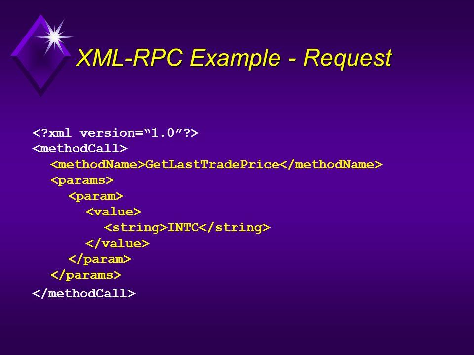 XML-RPC Example - Request