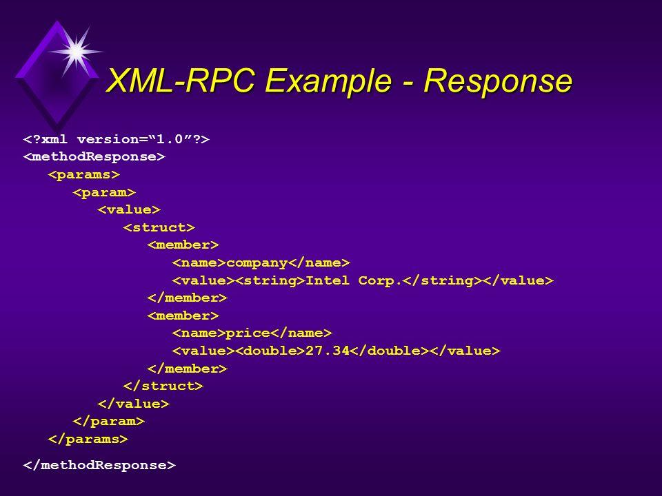 XML-RPC Example - Response