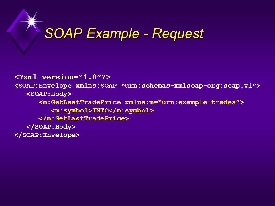 SOAP Example - Request < xml version= 1.0 >