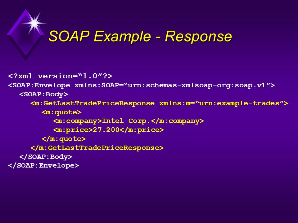 SOAP Example - Response