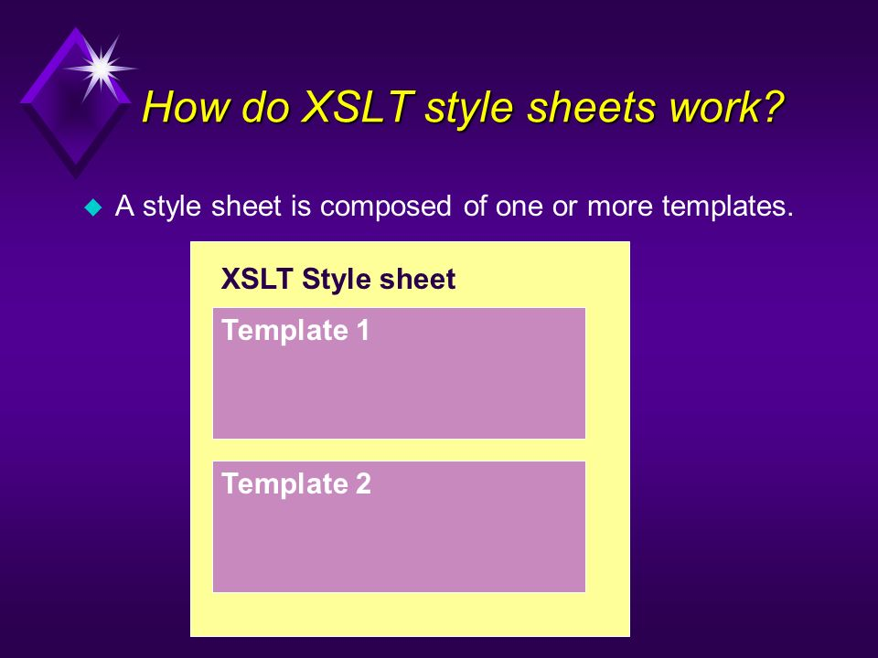 How do XSLT style sheets work