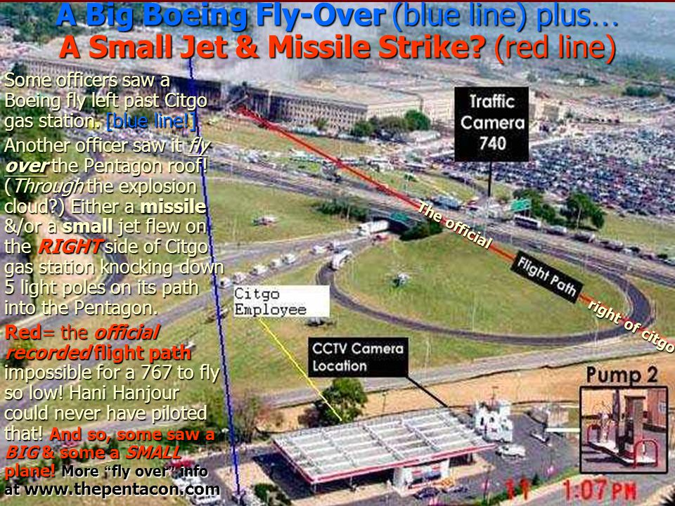 A Big Boeing Fly-Over (blue line) plus… A Small Jet & Missile Strike