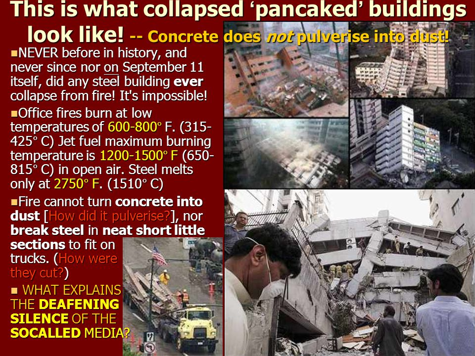 This is what collapsed 'pancaked' buildings look like