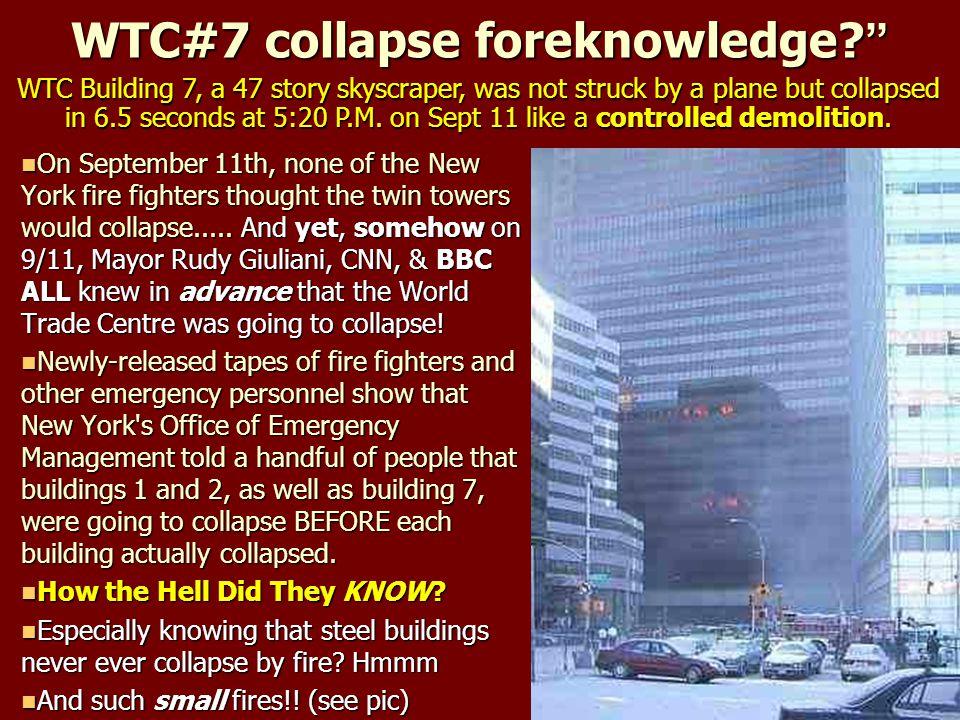 WTC#7 collapse foreknowledge