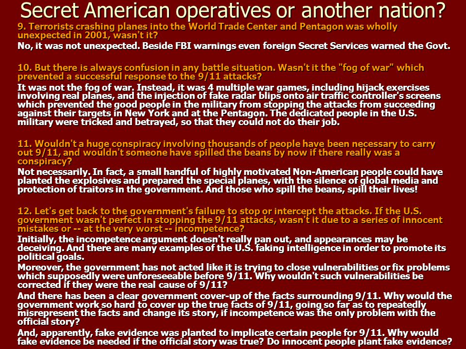 Secret American operatives or another nation