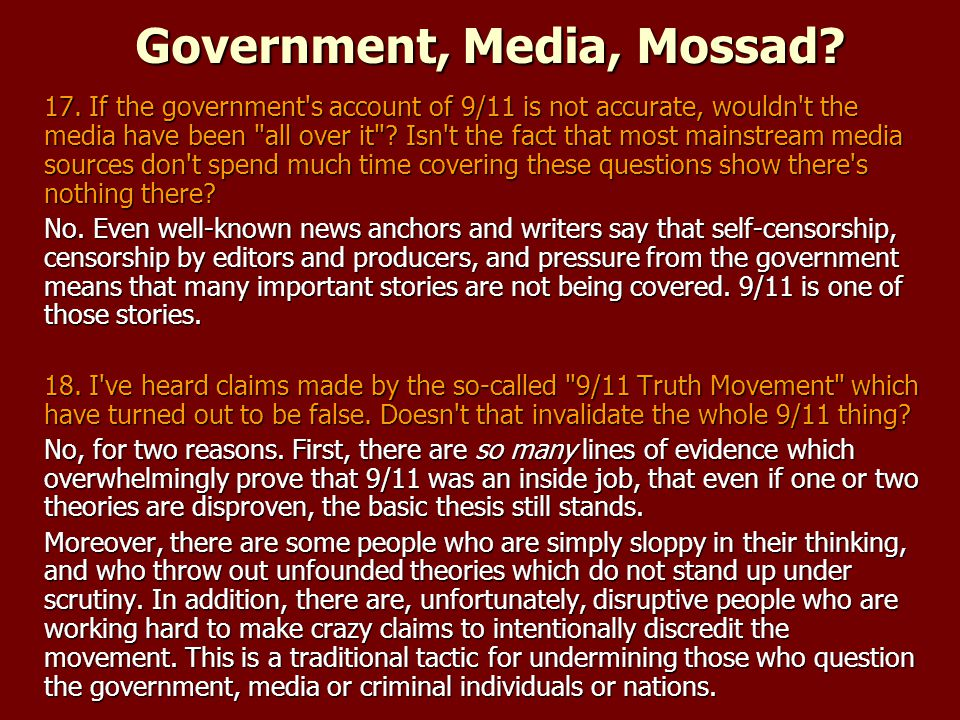 Government, Media, Mossad