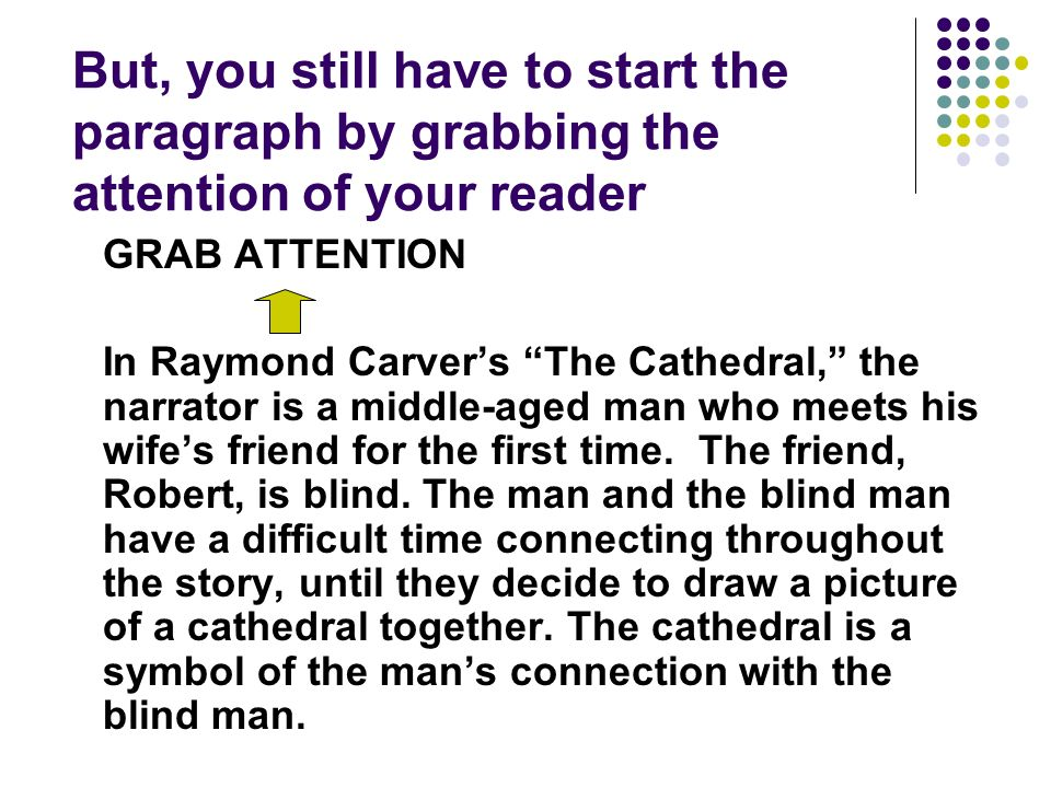 the influence of the drawing on the narrator in cathedral a short story by raymond carver