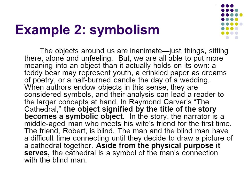 Example 2: symbolism