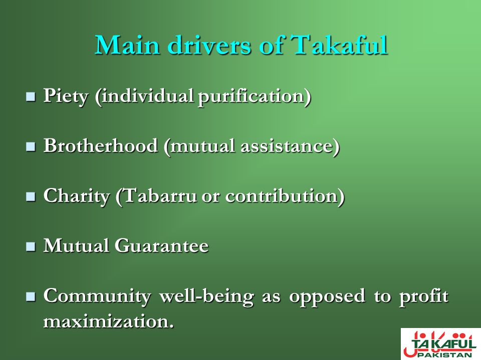 Main drivers of Takaful