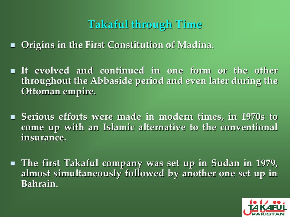 Takaful through Time Origins in the First Constitution of Madina.