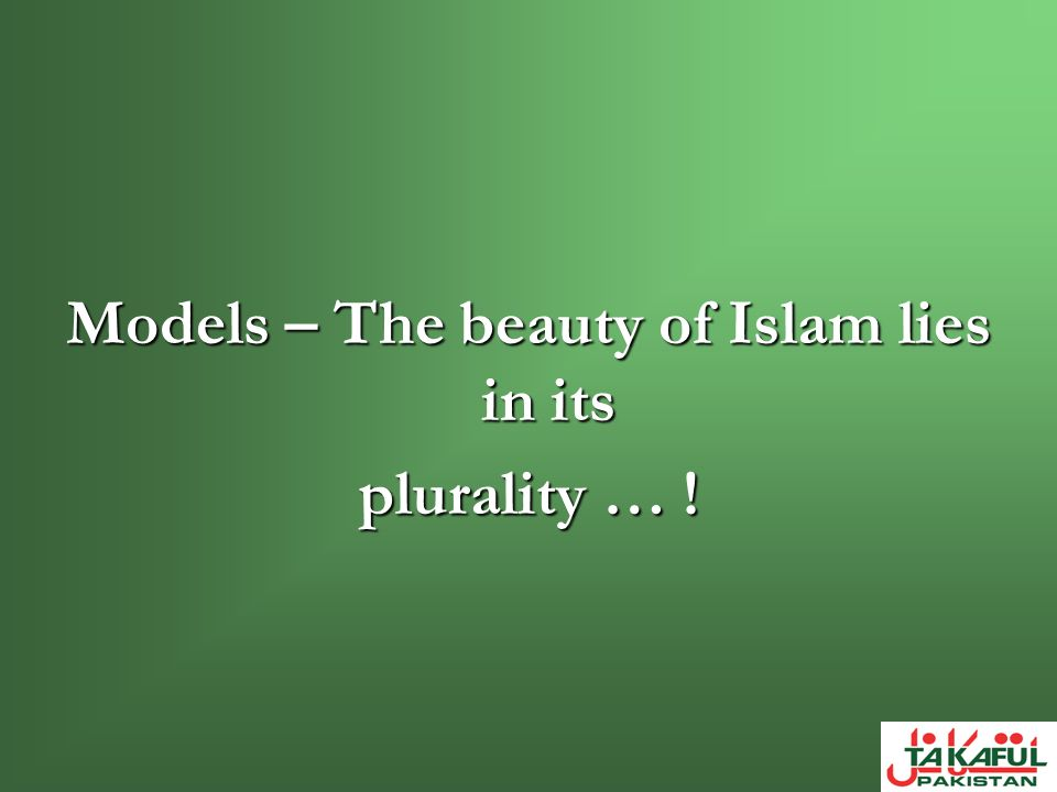 Models – The beauty of Islam lies in its