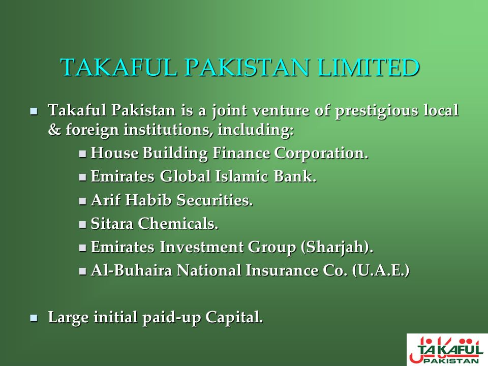 TAKAFUL PAKISTAN LIMITED