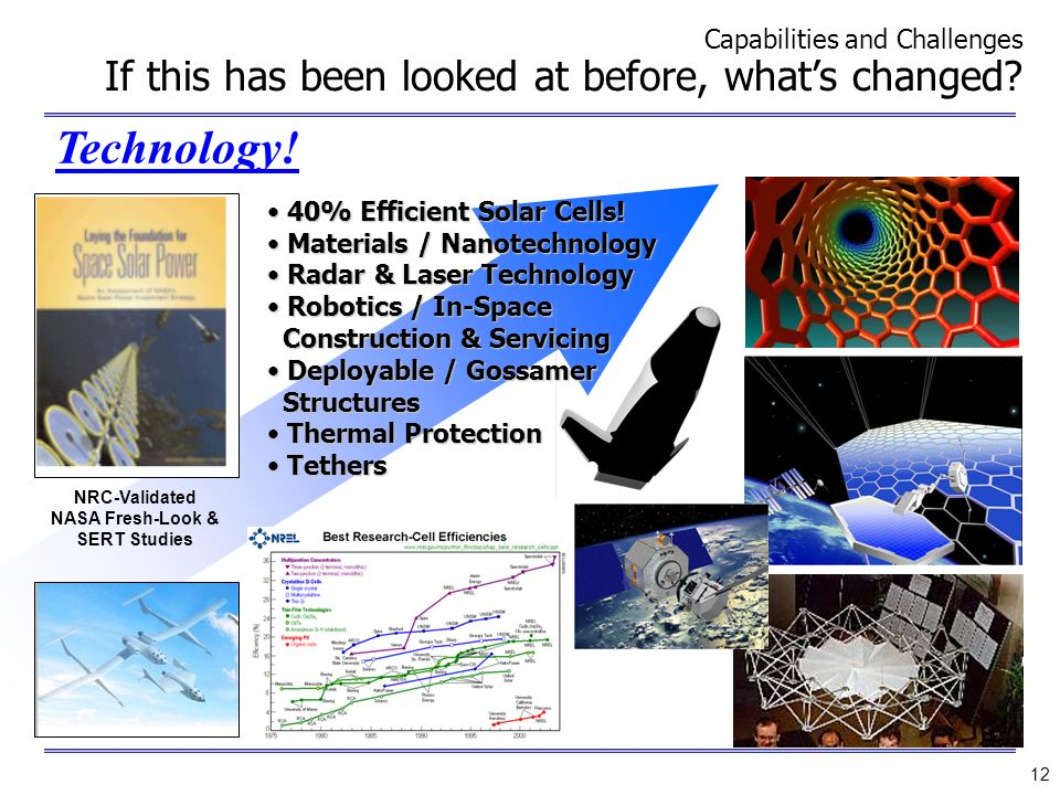 NASA Fresh-Look & SERT Studies