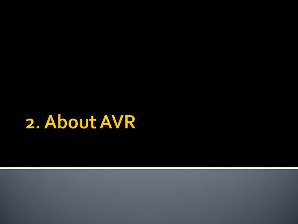 2. About AVR