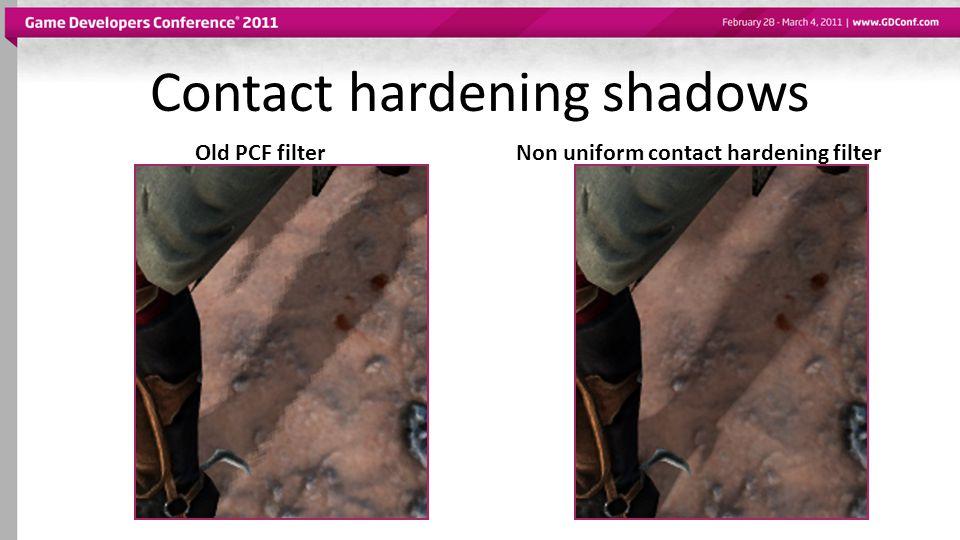 Contact hardening shadows