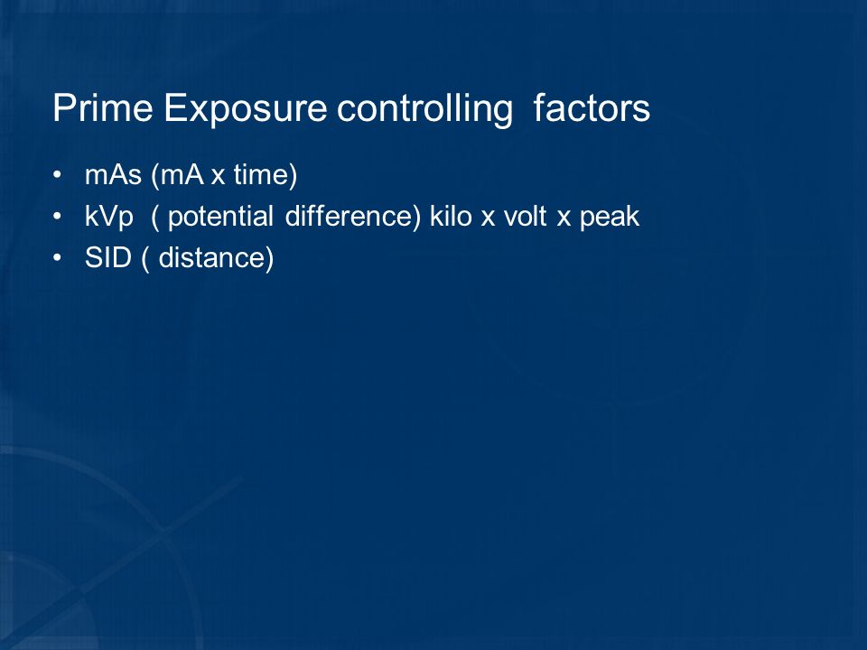 Prime Exposure controlling factors