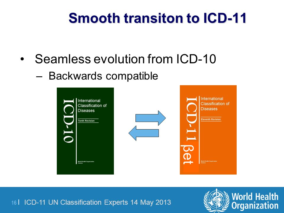 Smooth transiton to ICD-11