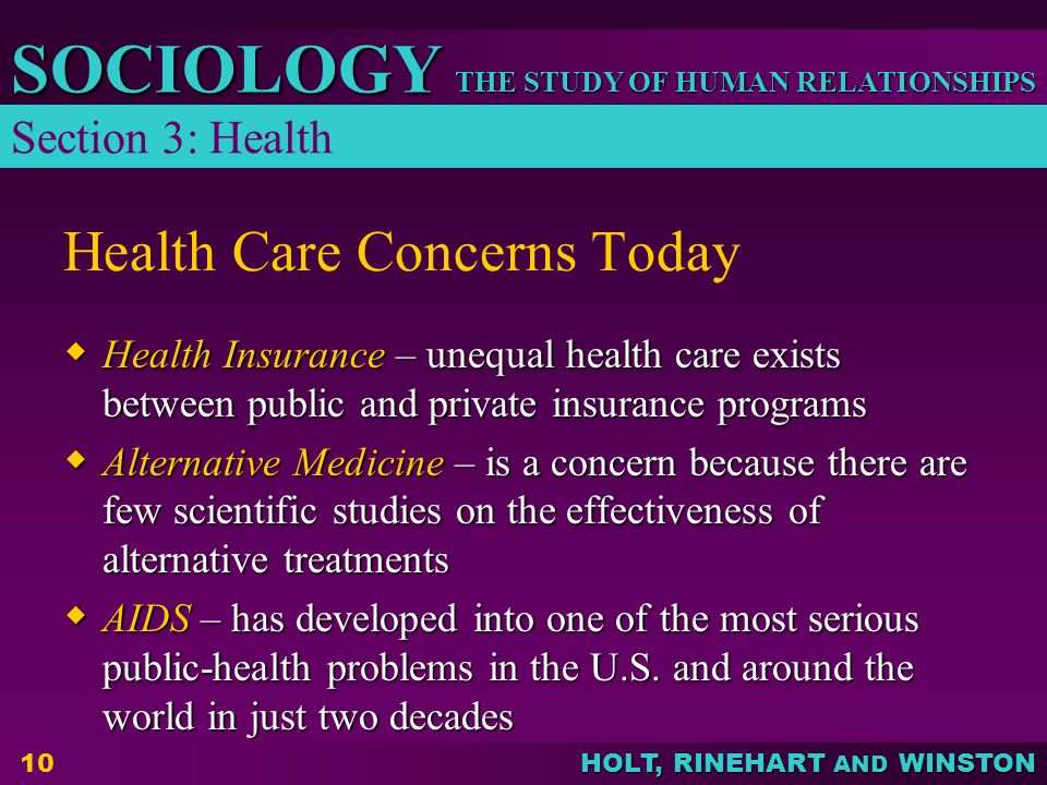 Health Care Concerns Today