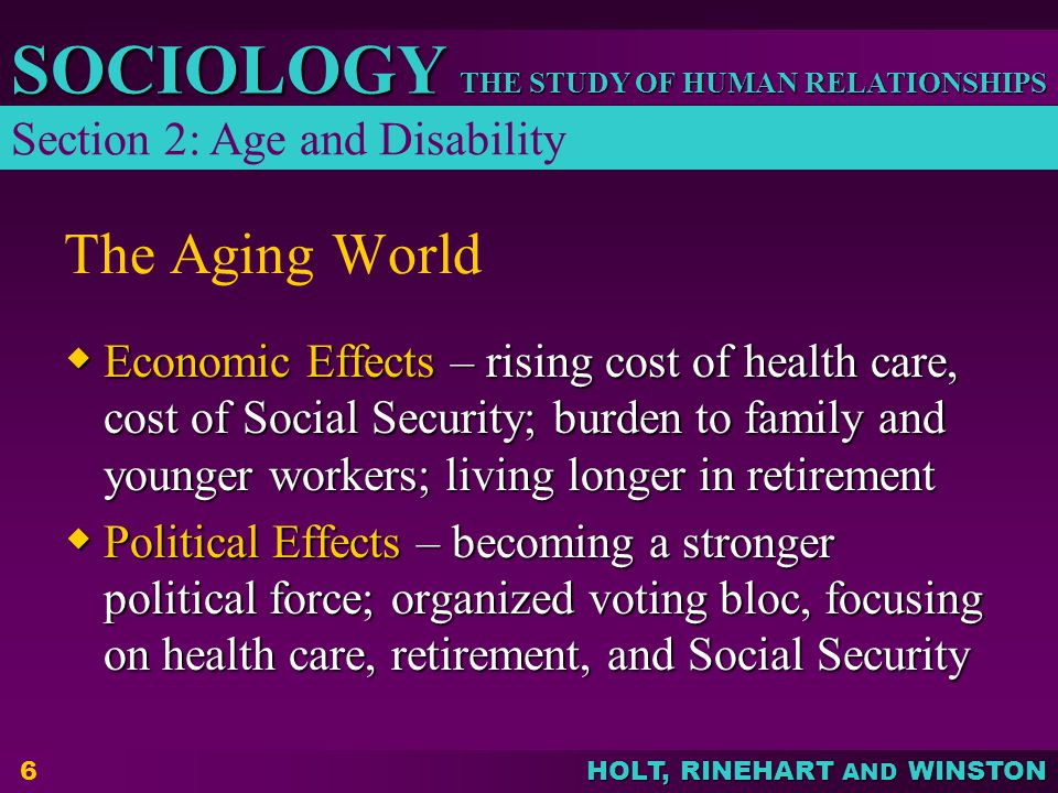 The Aging World Section 2: Age and Disability