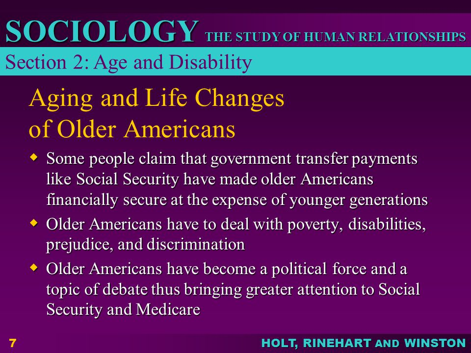 Aging and Life Changes of Older Americans