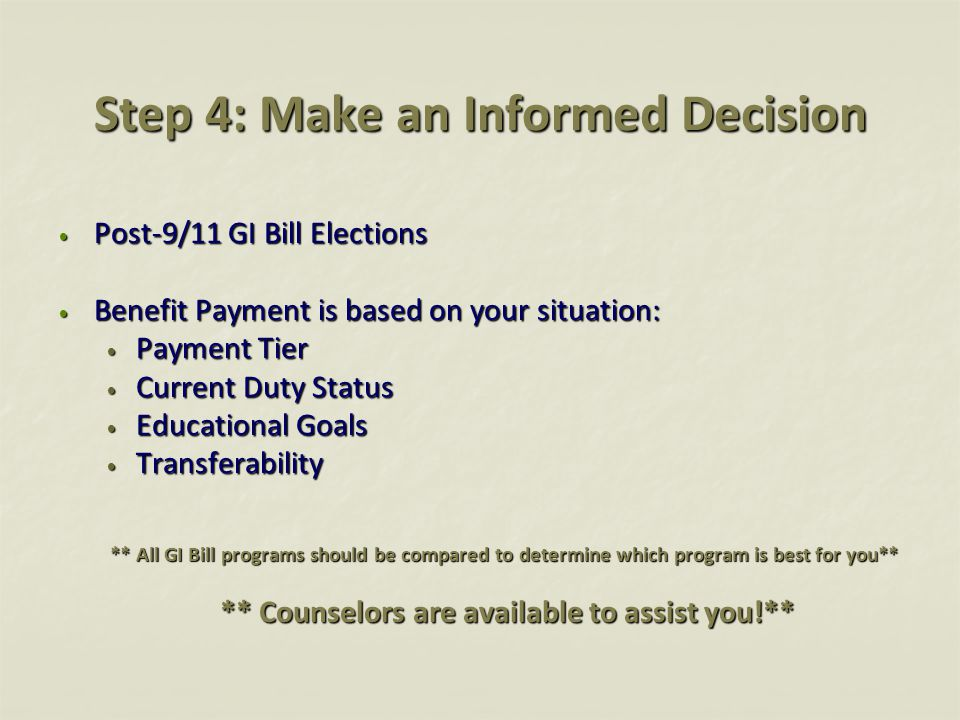 Step 4: Make an Informed Decision