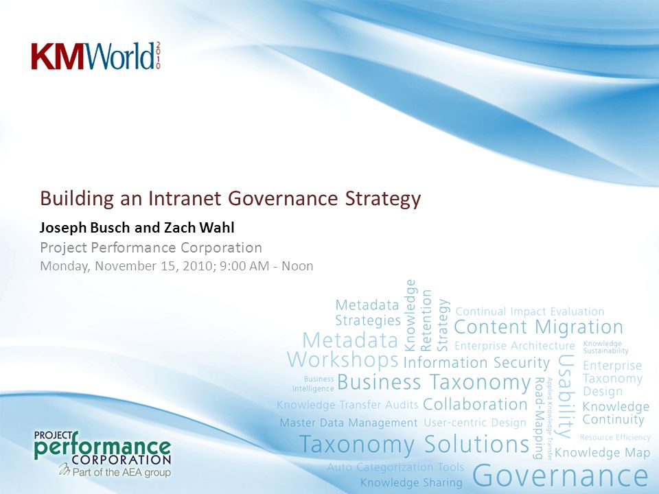Building an Intranet Governance Strategy