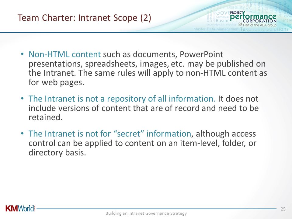 Team Charter: Intranet Scope (2)