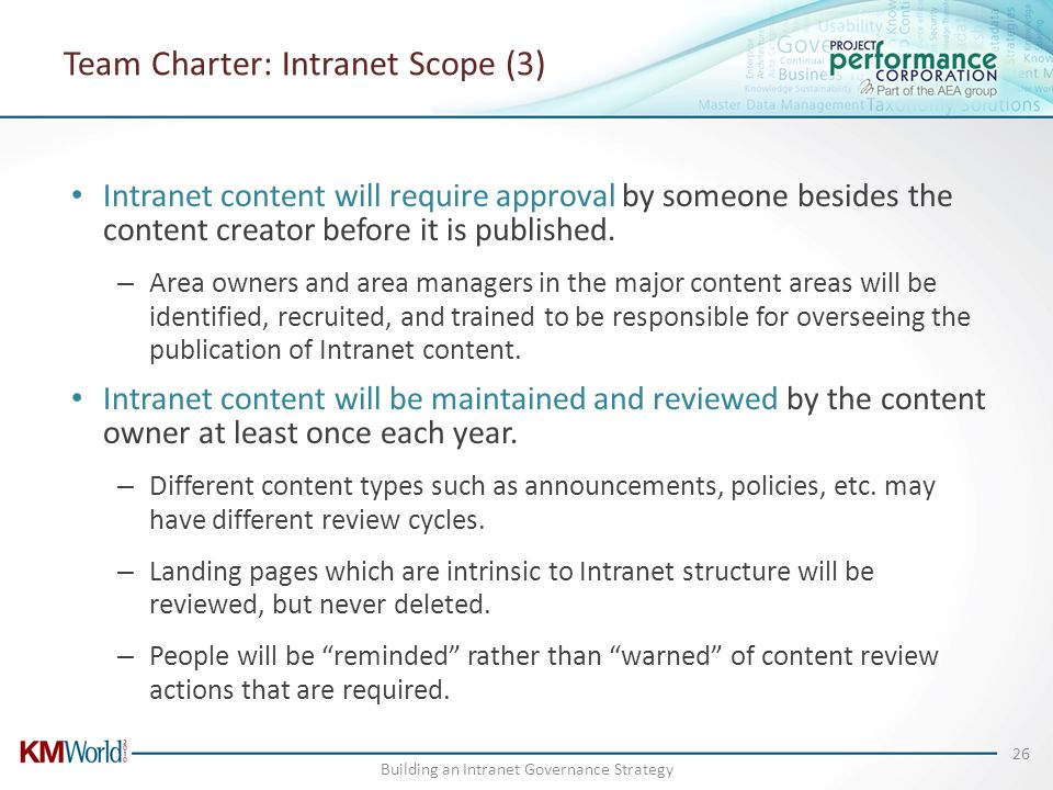 Team Charter: Intranet Scope (3)