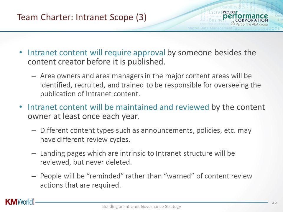 Team Charter: Intranet Scope (3)