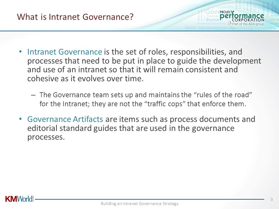 What is Intranet Governance