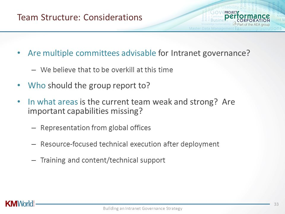 Team Structure: Considerations