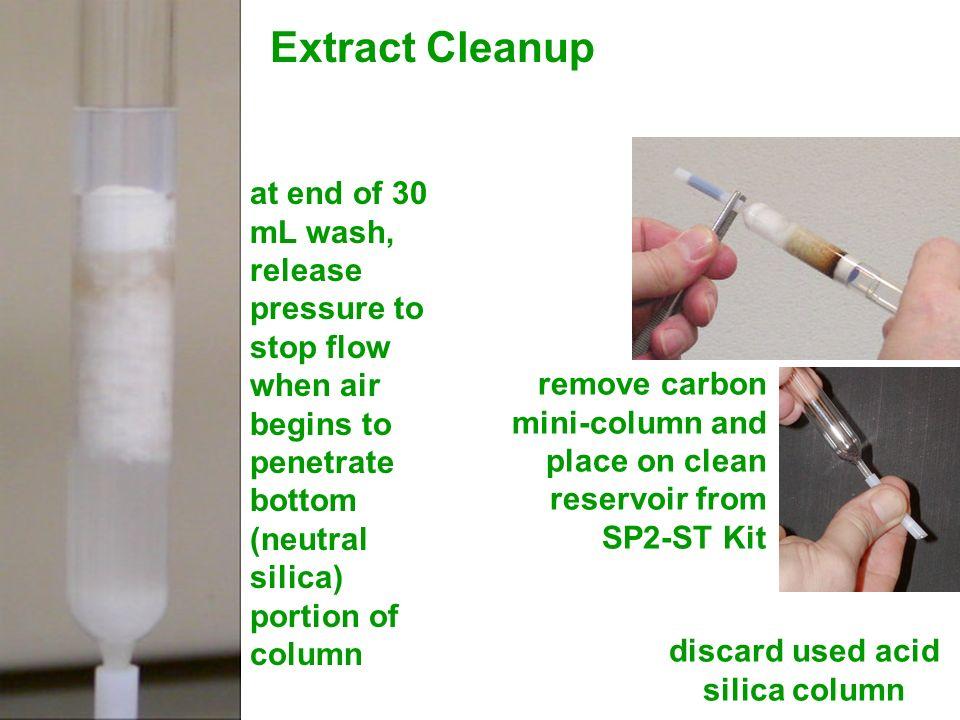discard used acid silica column