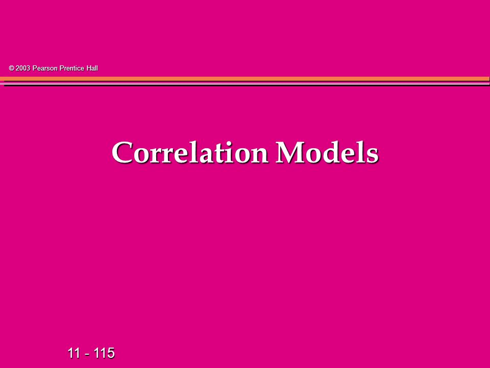Correlation Models 129