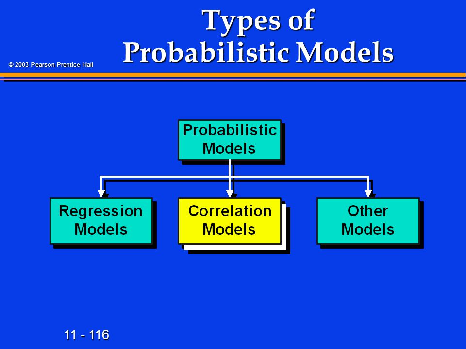 Types of Probabilistic Models
