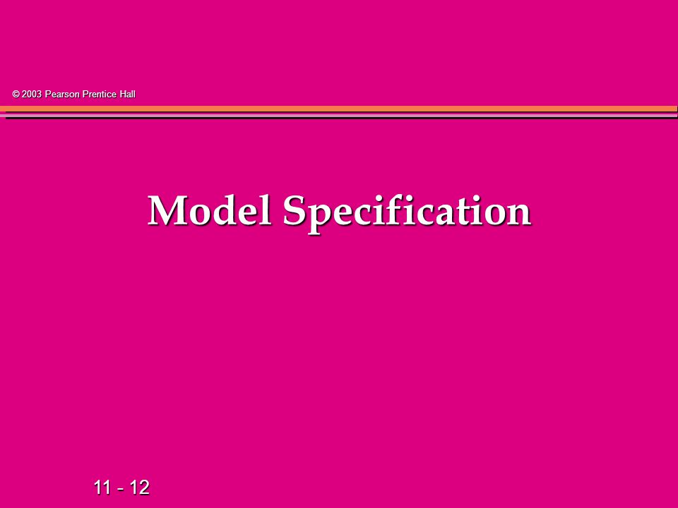 Model Specification 13