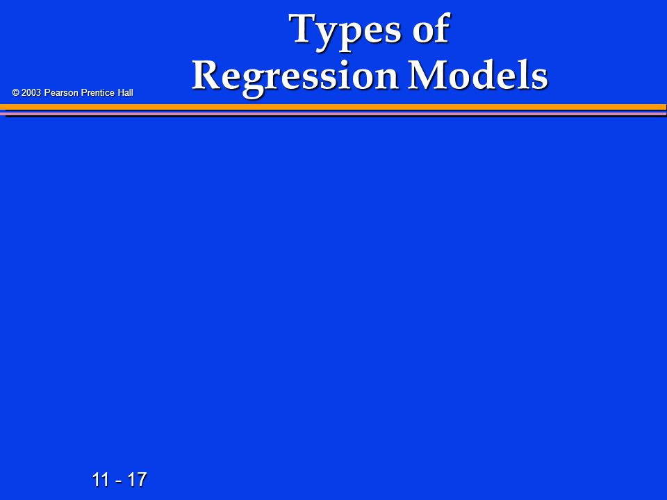 Types of Regression Models