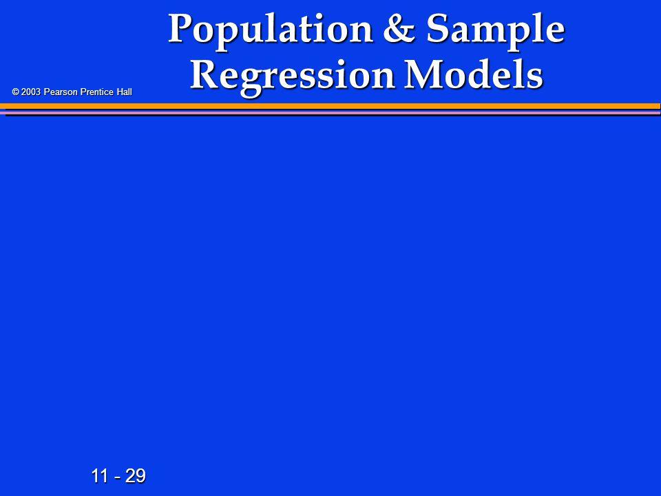Population & Sample Regression Models