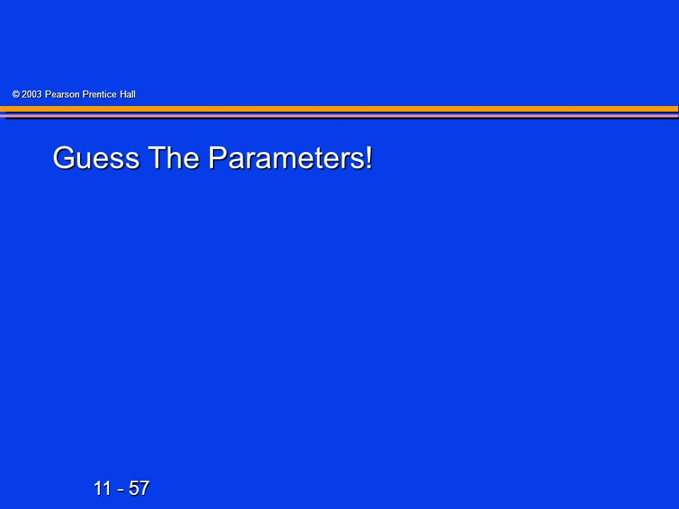 Guess The Parameters!
