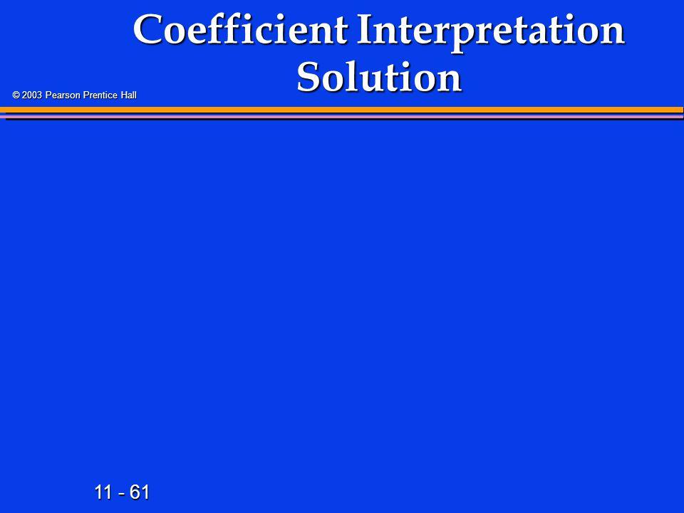 Coefficient Interpretation Solution