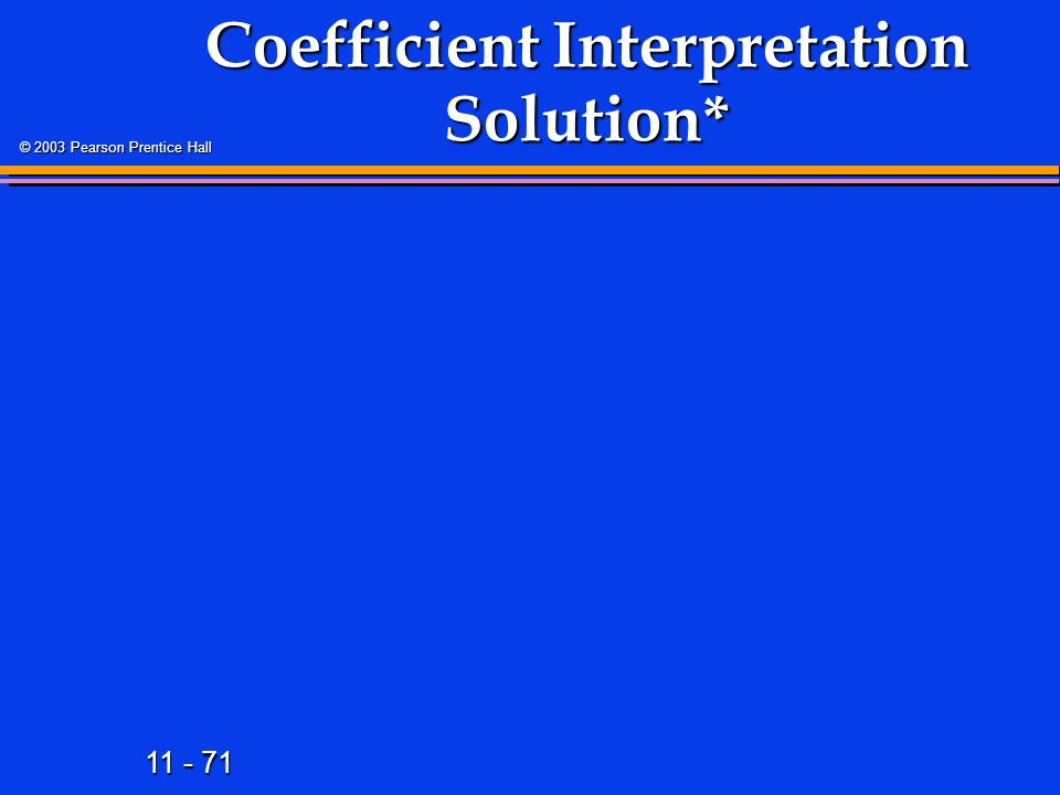 Coefficient Interpretation Solution*