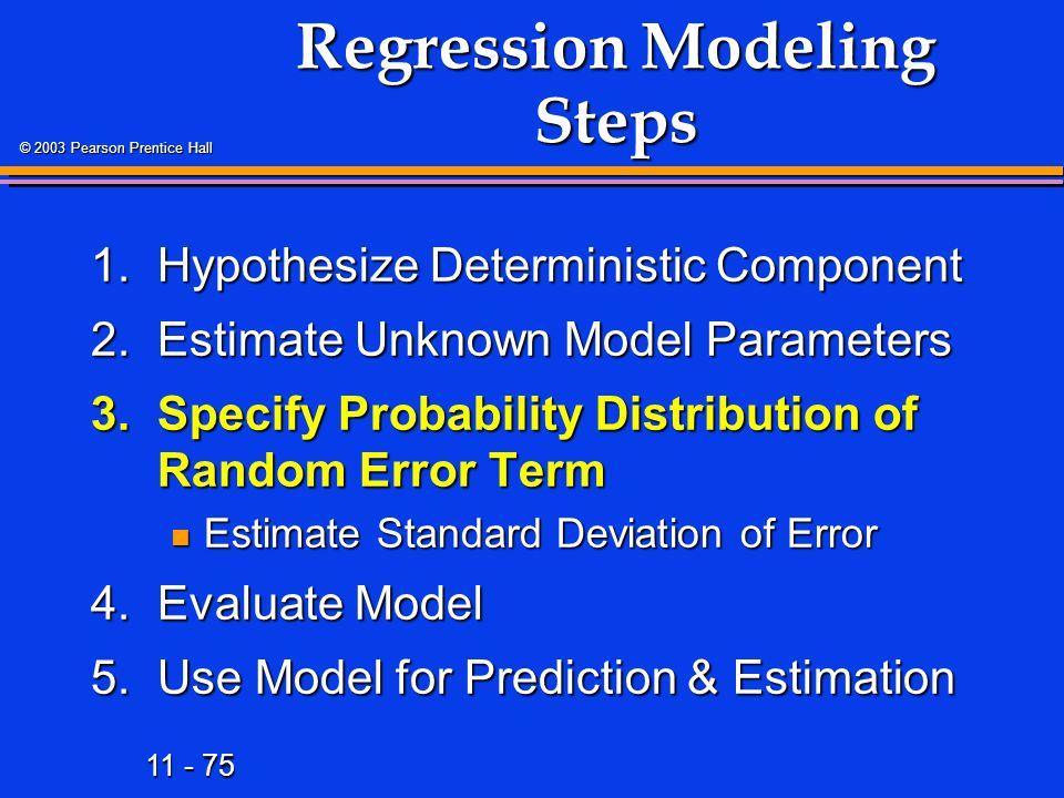 Regression Modeling Steps