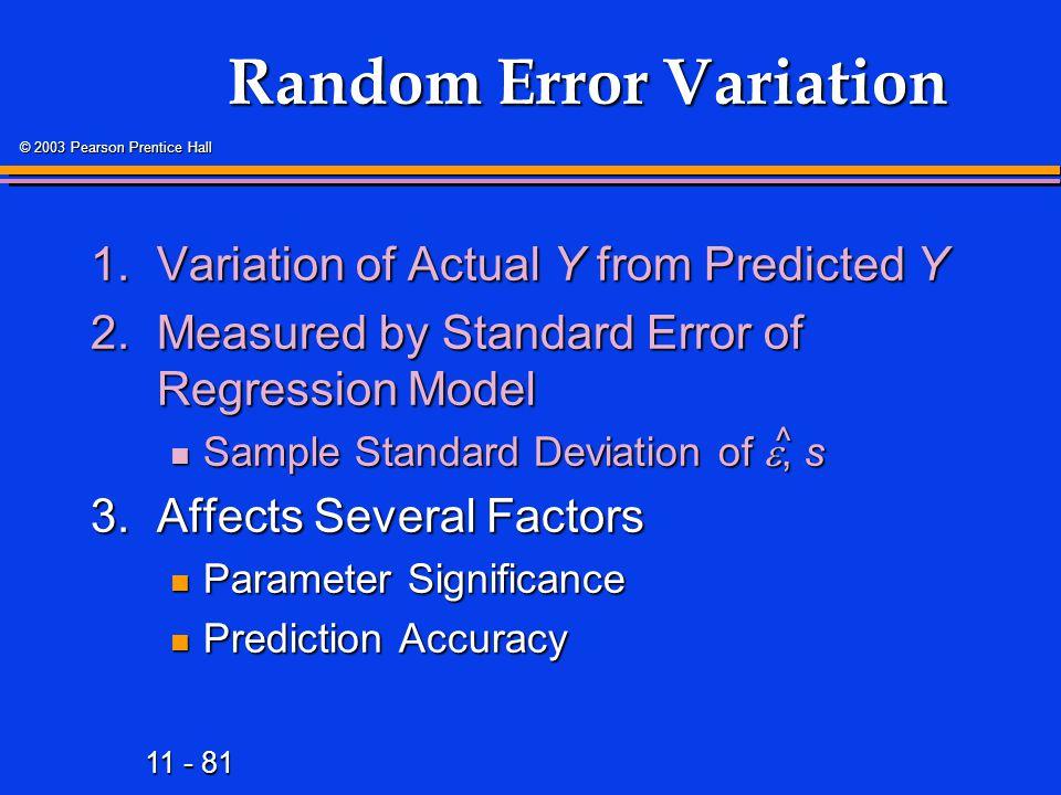 Random Error Variation